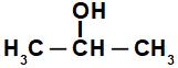 Fórmula estrutural do Propan-2-ol