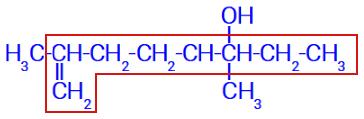 Fórmula estrutural com a cadeia ramificada determinada