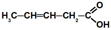 Exemplo de uma cadeia insaturada de um ácido carboxílico