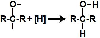 Representação do produto formado na redução orgânica de uma cetona