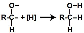 Representação do produto formado na redução orgânica de um aldeído