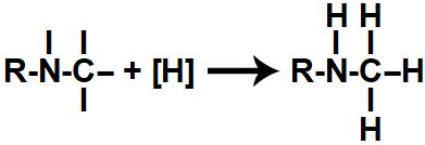 Representação do produto formado na redução orgânica de um isonitrilo