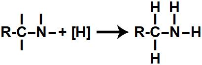 Representação do produto formado na redução orgânica de um nitrilo