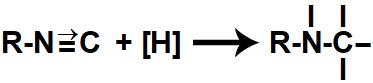 Representação das valências livres formadas durante a redução de um isonitrilo
