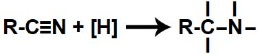 Representação das valências livres formadas durante a redução de um nitrilo
