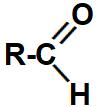 Representação da carbonila que identifica um aldeído