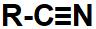 Representação do cianeto, grupo que identifica um nitrilo