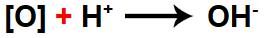 Representação da formação do ânion hidróxido.