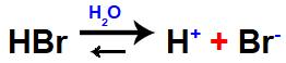 Equação que representa a ionização de um ácido forte.