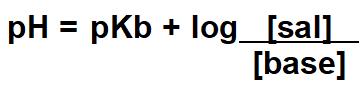 pKb = -log [constante de ionização da base]  [base] = concentração mol/L da base na solução