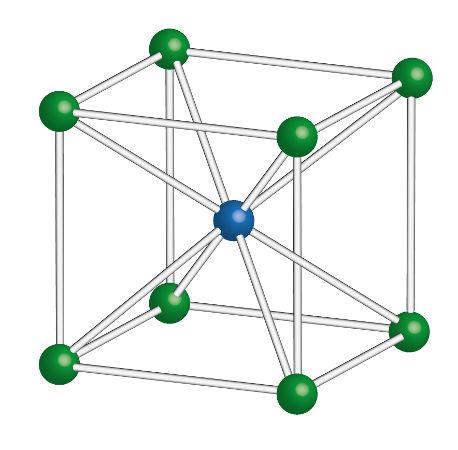 A organização dos átomos na estrutura cristalina influencia o volume atômico de um elemento