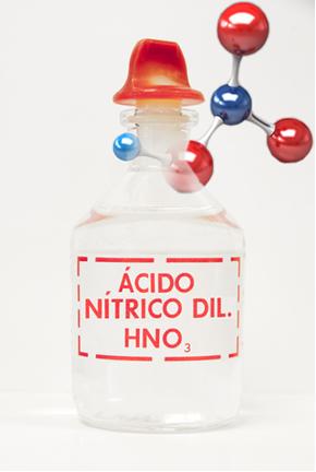Acima temos o exemplo do nome de um oxiácido padrão, o ácido nítrico