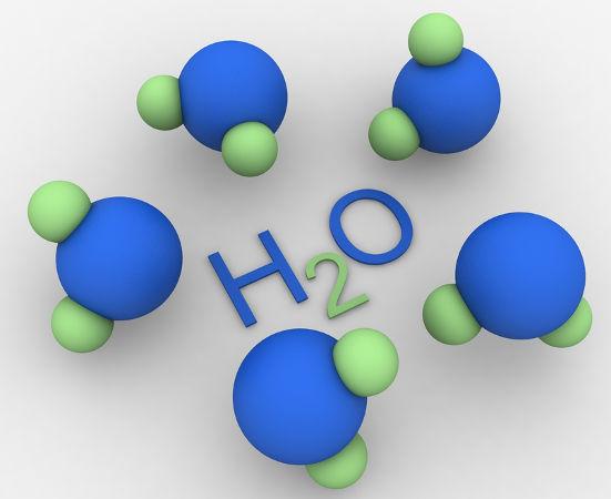 As moléculas de água são polares