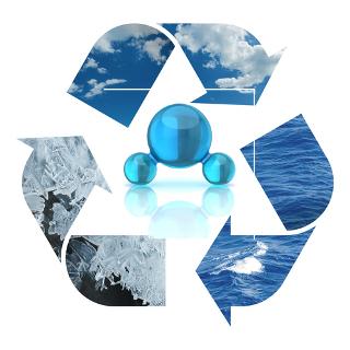 As mudanças de estado físico da água não alteram sua composição, mas apenas a organização de suas moléculas