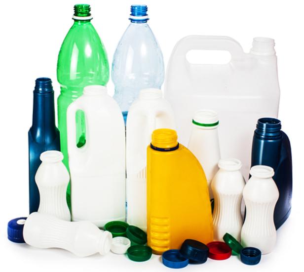 Embalagens feitas de polímeros sintéticos