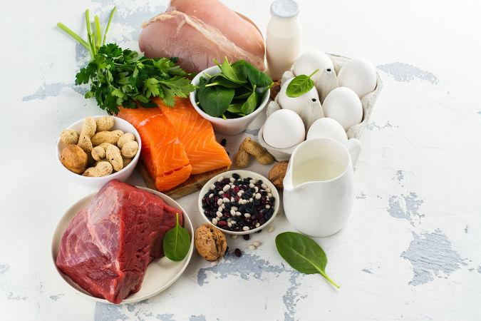 Exemplos de alimentos que são fontes de proteína