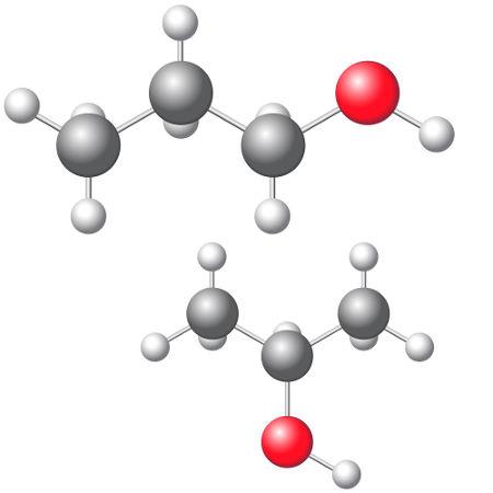 Fórmulas estruturais de alcoóis que apresentam isomeria plana de posição