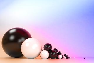 Na medida do raio atômico, consideram-se os átomos como esferas