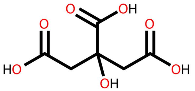 O ácido cítrico é um inibidor utilizado em alguns alimentos