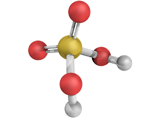 O ácido sulfúrico é um exemplo de molécula formada por três ligações covalentes normais e duas ligações covalentes dativas entre seus átomos