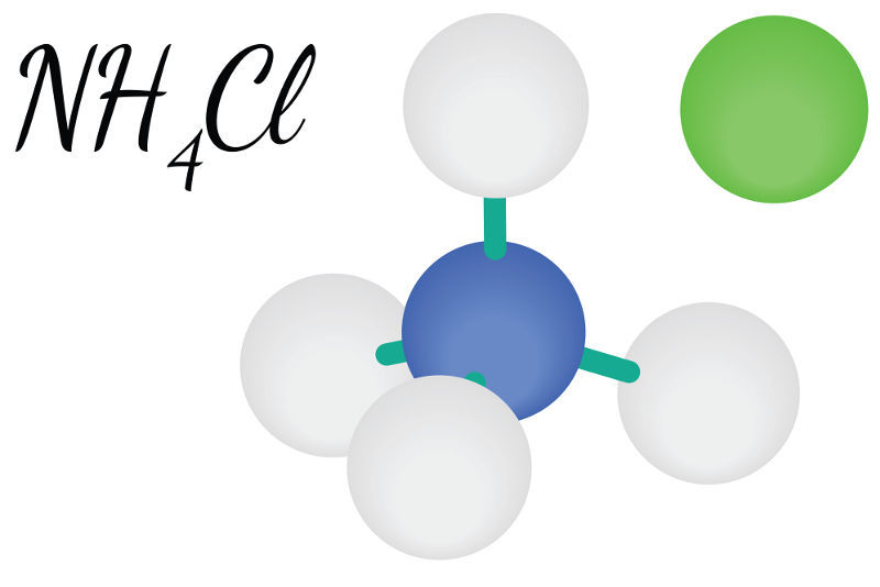 O cloreto de amônio é um exemplo de sal que sofre hidrólise ácida.
