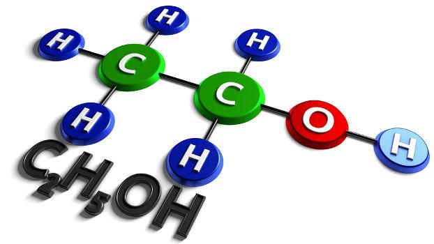 O etanol pode ser formado em determinadas reações de adição em alcenos