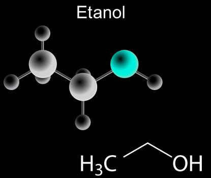O etanol é um álcool que pode ser obtido a partir de reações de hidratação em alcenos