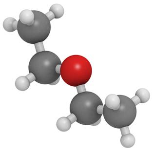 O etoxietano é o éter mais conhecido