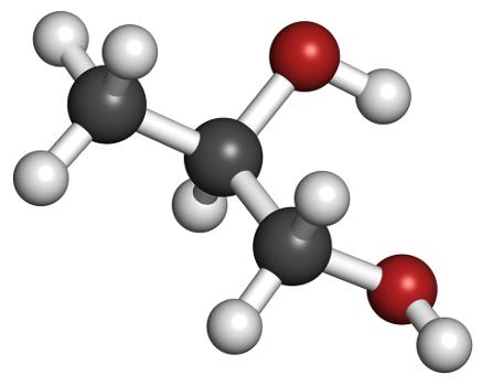 O propilenoglicol é um álcool que apresenta carbono quiral em sua estrutura