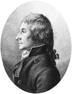 Retrato de Joseph Louis Proust (1754-1826), gravura de 1795, Inglaterra