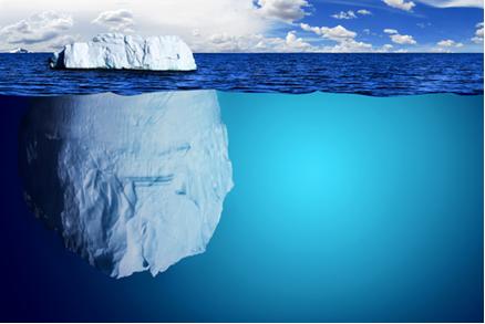 Um iceberg flutua na água do mar porque a densidade do gelo é menor