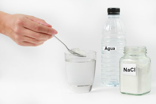 Uma dissolução ocorre quando um material dissolve-se em algum solvente
