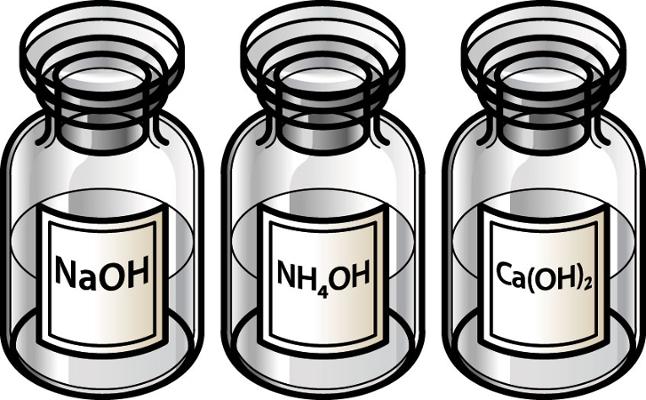 Você sabe o nome de cada uma das bases acima que são usadas em laboratório?